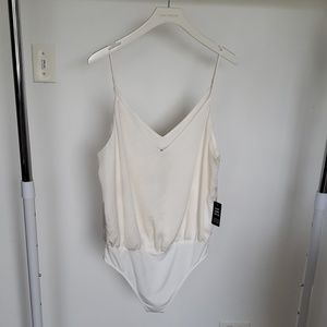BRAND NEW - Size L - Express Crepe Cami Bodysuit